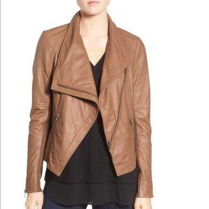 Trouve tan Moto leather jacket XS